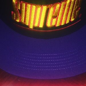 Supreme 5 panel underline hat